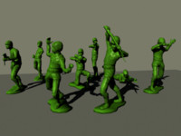 3d model plastic army man