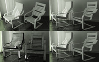 poang chair 3d max
