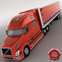 vnl780 trailer 3d model