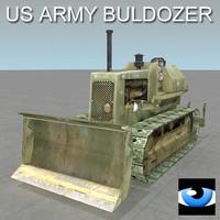 dozer excavator 3d model