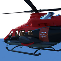 3ds max bell 430 news helicopter