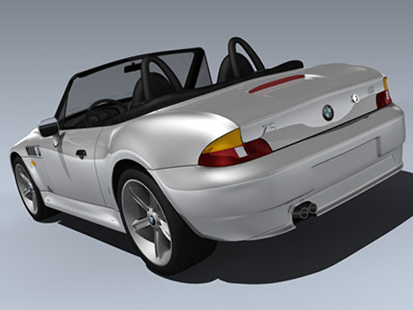 3d model of bmw z3 roadster 2002