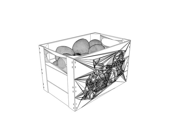box apple pears 3d 3ds - box with apples and pears... by tudor2