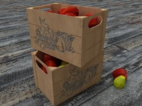 box with apples and pears