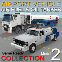 Airport vehicles collection 2 Model Aircraft fueler Oil & gas tanker