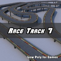 Low Polygon Race Track 7