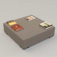 3d pouf sofa model