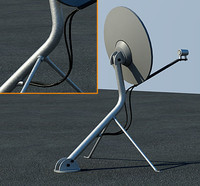 Rooftop satellite antenna *high/low poly versions*