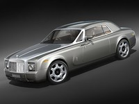 rolls royce coupe phantom 3d model