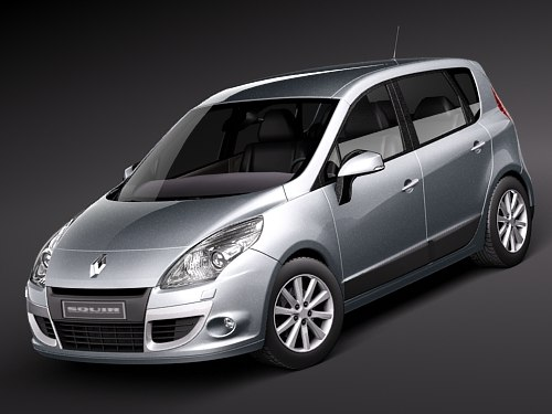 renault scenic 2010 2 3d model. Black Bedroom Furniture Sets. Home Design Ideas