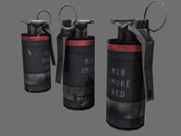 Smoke Grenade (RED) - Complete -
