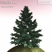 evergreen tree 3d 3ds