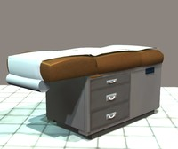 doctor exam table 3d model