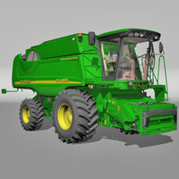 harvester tractor truck 3d 3ds
