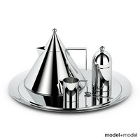 3d model set alessi il conico