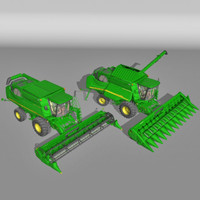 harvester tractor truck 3ds