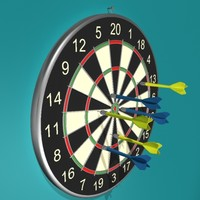 dartboard darts board 3d model