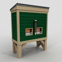 3d wood water cooler model