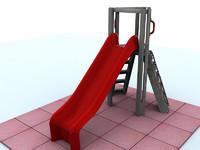 playground slide 3d model