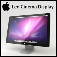 3D Model Apple Mac Led Cinema Display