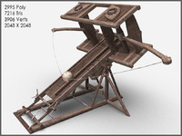 Ballista XXL, Textured, Low Poly