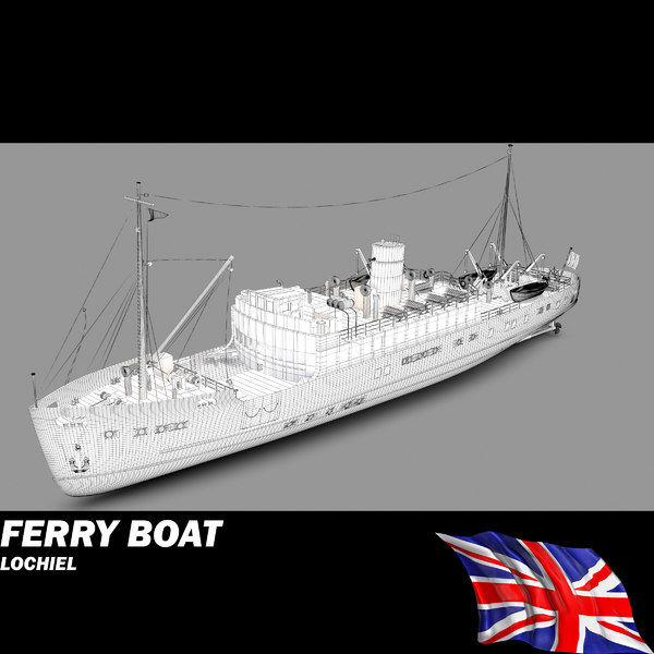 ferry - 3d model - Ferry Boat - Lochiel... by POPA_3D
