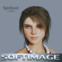 Young woman - Mona - SOFTIMAGE rigged