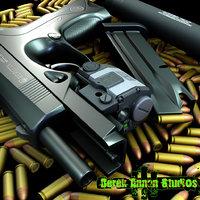 beretta px4 storm gun 3d model