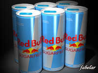 red bull sugarfree 3d max