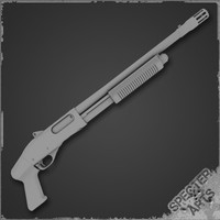 pump action shotgun breaching 3d 3ds