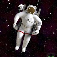 free astronaut 3d model