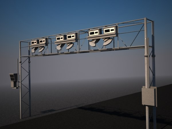 toll bridge highways 3d model - eToll road bridge... by design4real