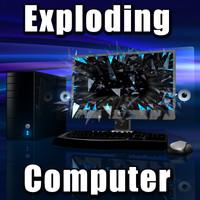 desktop computer 3d model