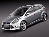 3d model focus 5door hatchback 2012