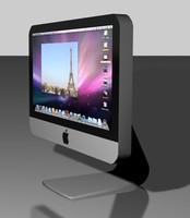 imac mac 3d model
