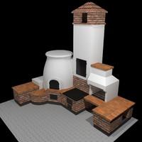 3d outdoor oven