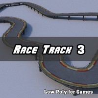 Low Polygon Race Track 3