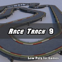 Low Polygon Race Track 9