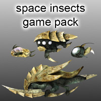 packs space insects 3d model