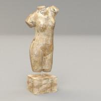 statuette statue 3ds