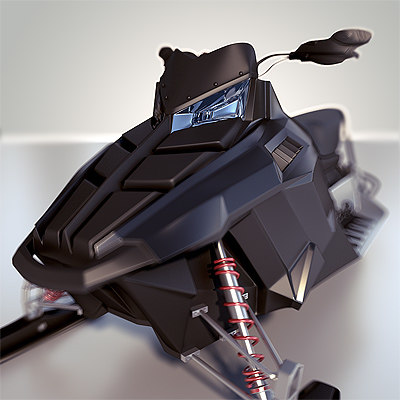 Snowmobile - HIGH POLY