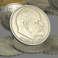 antique money soviet 3d max