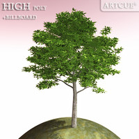 3d model of tree high-poly billboard