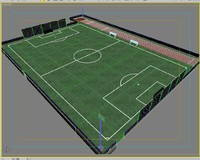 3d soccer field model