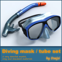 Diving mask / tube set