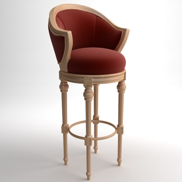classical bar chair 3d model - Bar Chair... by RadianceCG