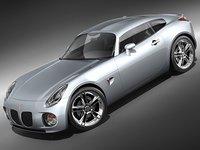 3d pontiac solstice coupe sport model