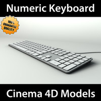 3d model of apple numeric keyboard