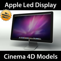 apple led display c4d