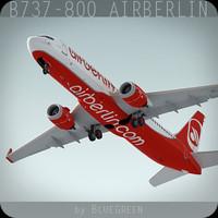 boeing 737-800 plane airberlin xsi